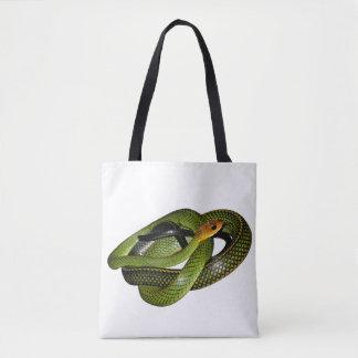 Tote Bag Ratsnake Noir-mis en marge ou serpent de rat vert
