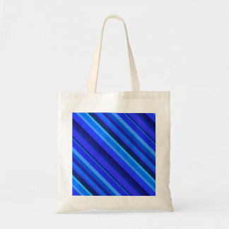 Tote Bag Rayures diagonales bleues