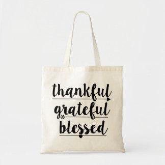 Tote Bag reconnaissant reconnaissant béni