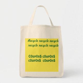 Tote Bag ReCyCle réutilisent réutilisent, c0up0n$ c0up0n$