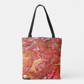 Tote Bag Résumé artistique coloré par rose chic chic