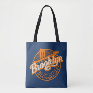 Tote Bag Rétro typographie vintage de Brooklyn, New York |