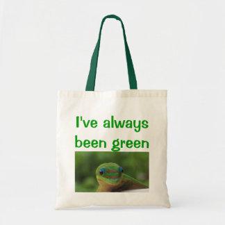 Tote Bag Réutilisez le Gecko vert de réutilisation
