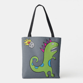 Tote Bag Roary le T-Rex - tout plus de - imprimez l'ardoise