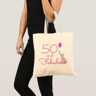 Tote Bag Roses indien 50 et anniversaire fabuleux