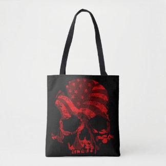 Tote Bag Rouge de crâne de l'Amérique