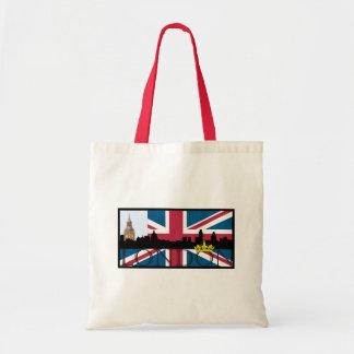 Tote Bag Silhouette de Londres et d'Union Jack