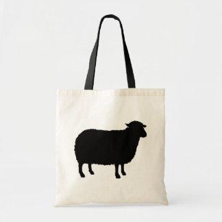 Tote Bag Silhouette de moutons noirs