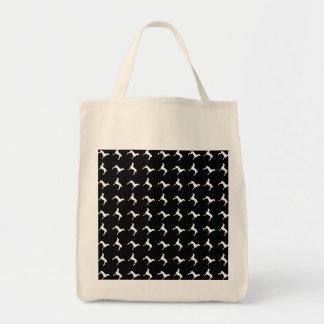 Tote Bag Silhouettes blanches de Weimaraner sur l'arrière -