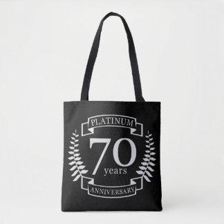 Tote Bag soixante-dixième PLATINE d'ANNIVERSAIRE de mariage