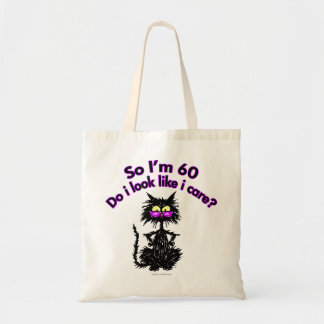 Tote Bag soixantième Cadeaux de chat d'anniversaire
