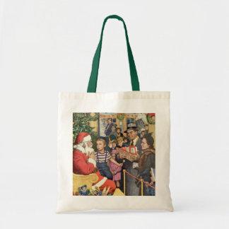 Tote Bag Souhait vintage de Noël, garçon sur le