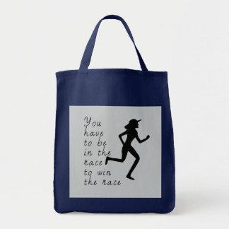 Tote Bag Soyez dans la course pour gagner la course