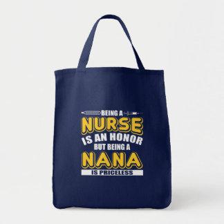 Tote Bag Soyez infirmière est honneur soit Nana est