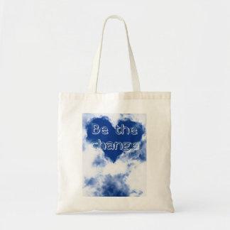 Tote Bag Soyez les nuages inspirés de changement