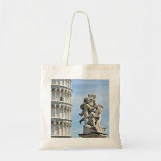 Tote Bag Statue de Putti de dei de Fontana de tour penchée