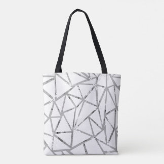 Tote Bag Structure des triangles avec un collage des