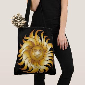 Tote Bag Sun de sourire audacieux sur #1 noir