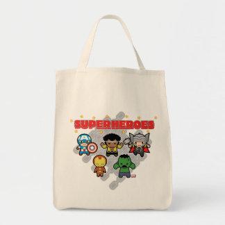 Tote Bag Superhéros de merveille de Kawaii