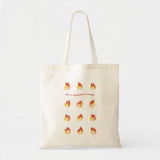 Tote Bag Sur le feu - ne laissez pas vos rêves entrer dans