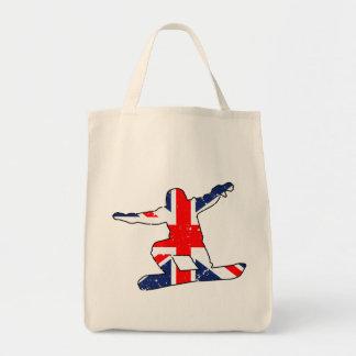 Tote Bag SURFEUR d'Union Jack (noir)