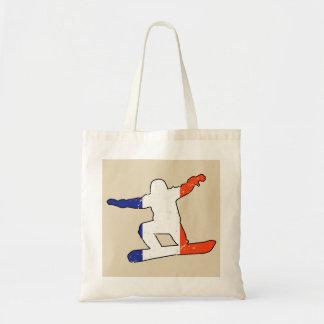 Tote Bag SURFEUR tricolore français (noir)
