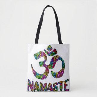 Tote Bag Symbole de Chakra de couronne de Namaste