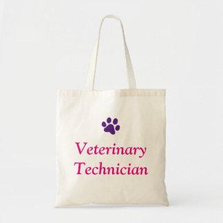 Tote Bag Technicien vétérinaire avec l'empreinte de patte
