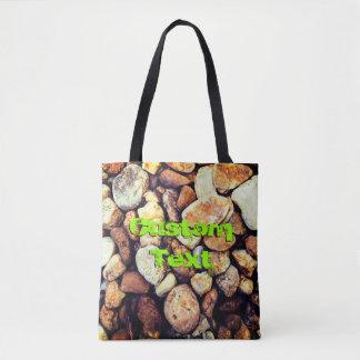 Tote Bag Texte fait sur commande chaud des pierres |
