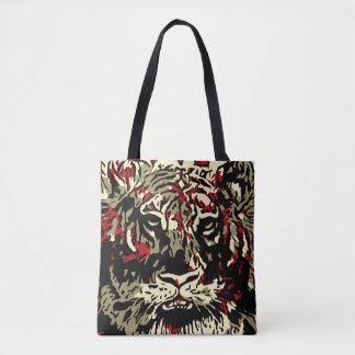 Tote Bag Tigre abstrait iconique Alloverprint Fourre-tout