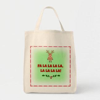 Tote Bag Toile organique Fourre-tout de Noël de La de La de