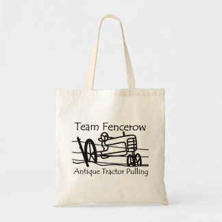 Tote Bag Traction antique de tracteur de Fencerow d'équipe