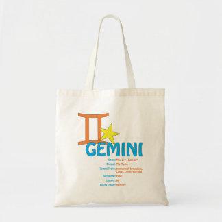 Tote Bag Traits Fourre-tout de Gémeaux