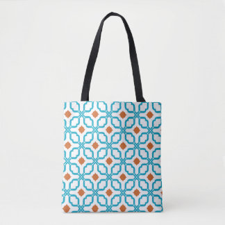 Tote Bag Tuiles d'orange de Bleu