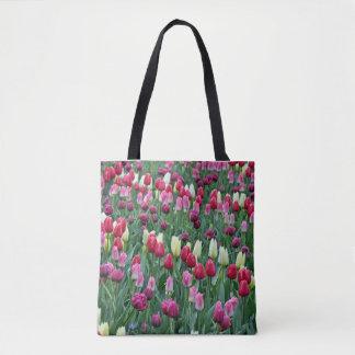 Tote Bag Tulipes colorées de ressort
