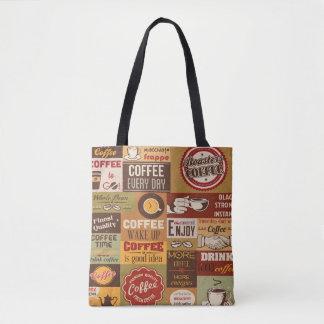 Tote Bag Typographie de café