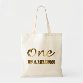 Tote Bag Un dans million de typographie élégante de Brown
