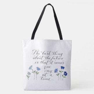 Tote Bag une typographie inspirée de citation de jour à la