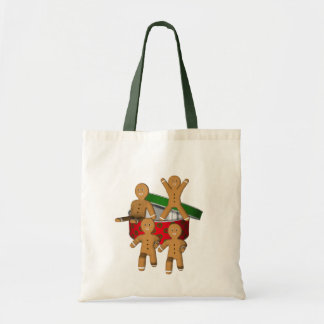 Tote Bag Vacances de Noël d'hommes de biscuit de pain