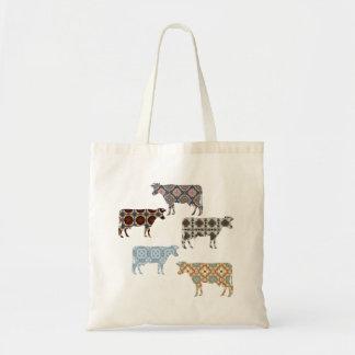 Tote Bag Vache à Florillas