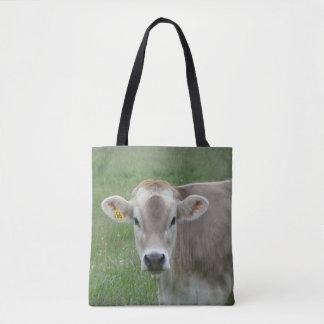 Tote Bag Vache douce du Jersey de visage