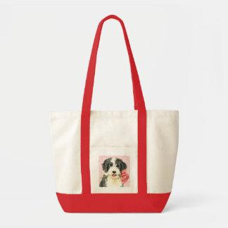 Tote Bag Valentine Beardie rose