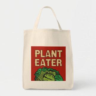 Tote Bag Végétalien végétarien de mangeur de plante rétro