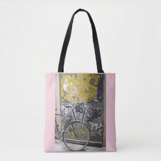 Tote Bag Vélo avec le graffiti, Madrid