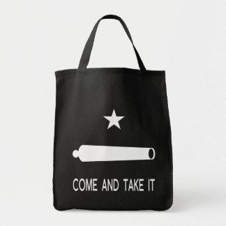 Tote Bag Venez il falloir le ~ le Texas de drapeau