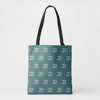 Tote Bag Vert Sanskrit de rose en pastel de motif de