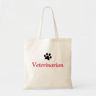 Tote Bag Vétérinaire avec l'empreinte de patte noir