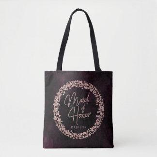 Tote Bag Vin de Bourgogne et domestique rose d'or de