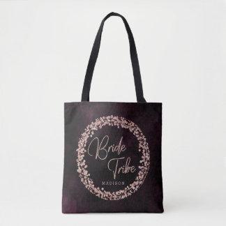 Tote Bag Vin de Bourgogne et monogramme rose de tribu de