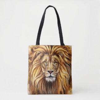 Tote Bag Visage artistique de lion tout plus de - imprimez